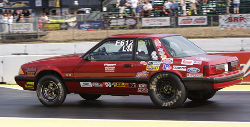 Sean Ferguson (from Langley BC) entered his '88 Mustang L/SA car in Stock