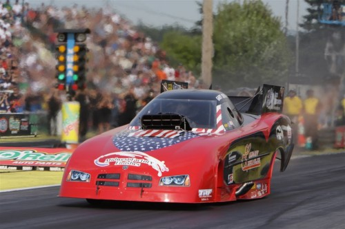 One of John Force's ex team mates - Gary Densham went to the FC final driving his independent Dodge Charger