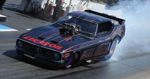 Jordon's fuel burning Mustang has run a best of 6.04 secs and 245 mph - so far.