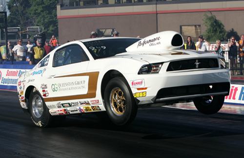 Venice Perno entered his high-flying '10 Mustang SS/CS and advanced to the 2nd round in Super Stock