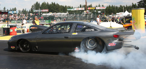 Eric Lanz does a burnout in his B.C.-based S/G Chevy
