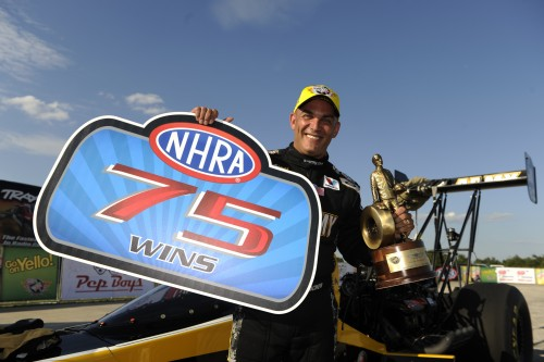 Tony Schumacher collected his 75th career win in Top Fuel