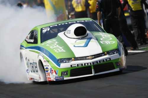 David Connolly won a super close match versus his teammate Shane Gray in the Pro Stock final