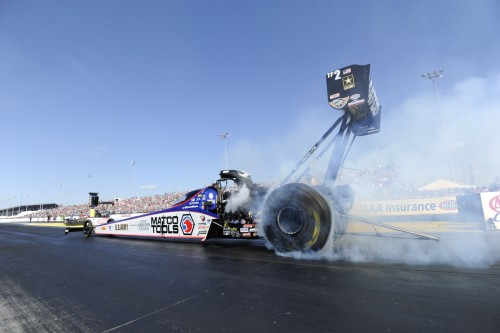 Antron Brown won for the 4th time in Top Fuel at the St. Louis event.