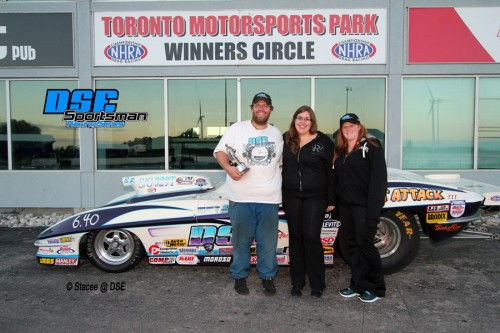 Andrew Stirk won his fourth DSE Super Pro race in 2014 to clinch the NHRA Wally and the Points Title