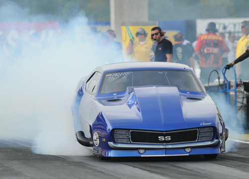 Jim Bell had another good run in his Pro Mod Camaro - qualifying 14th before a red-light foul took him out in round #1