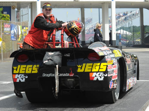 Canada's Jason Kenny scored his 3rd career NHRA national event title - winning in Super Gas 9.90
