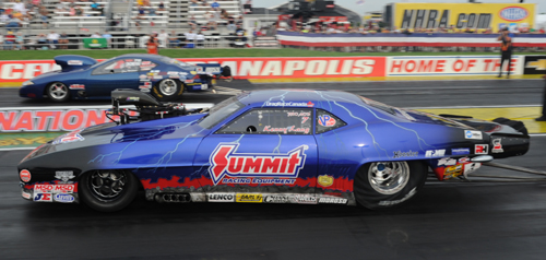 Manitoba's Kenny Lang was a rather shocking DNQ in Pro Mod - his best run of 6.107 fell short of the 5.995 secs bump.