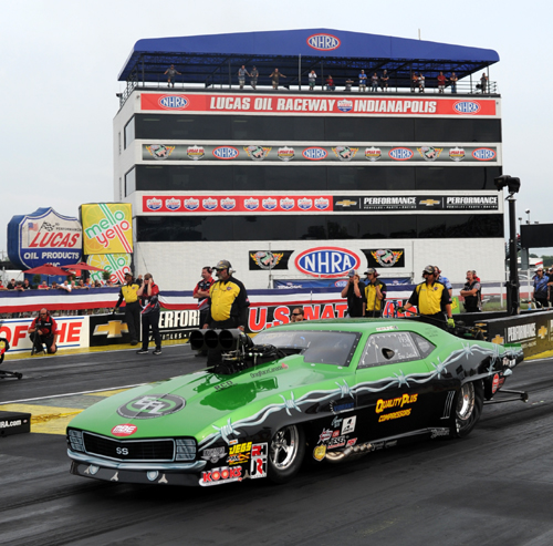 Eric Latino came heart breaking-ly close to qualifying at Indy's mega tough Pro Mod program - his 5.998 secs missed by a scant .003 of a second.