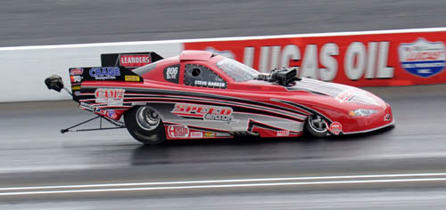 Australian Steve Harker kept his NHRA Lucas Oil World title hopes very much alive with a win in TAFC