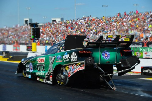 John Force retained his overall FC points lead with a final four placing as well as low ET and top speed of the event.