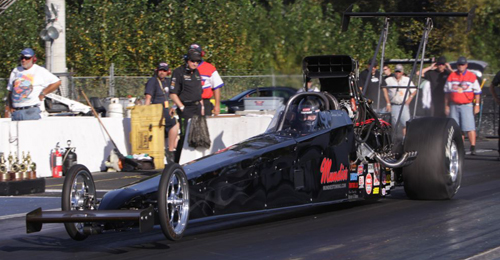 Local Canadian TAD powerhouse Shawn Cowie qualified #1 at 5.323 secs - but fouled out in round #2.