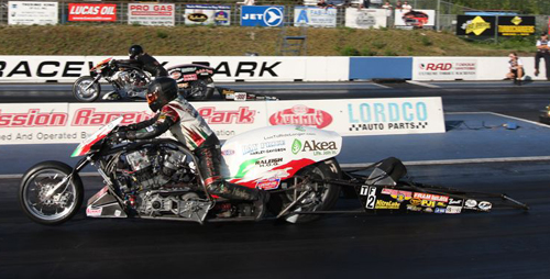 Tommy Grimes, from N.C., topped Canadian Damian Cownden in the Nitro Harley final