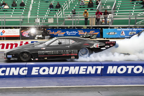 Mike Yedgarian of King City Ont qualified 5th in Pro Mod  with his Twin Turbo 68 Firebird. He also ran in the Outlaw 10.5 class with his 69 Camaro.