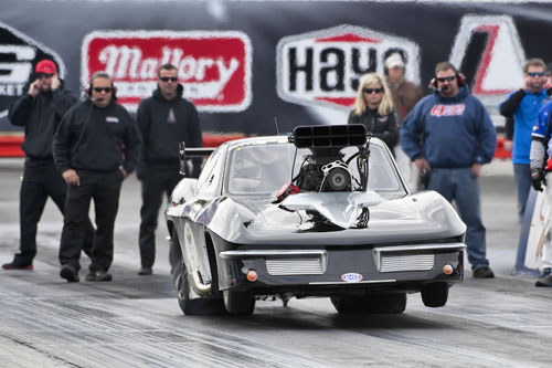 Paolo Giust of Osgoode Ont in his 63 Corvette with a MSR built 521 hemi qualified 9th