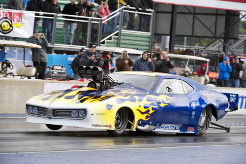 Bruce Boland of Stoney Creek Ont qualifies 10th with his Hemi powered 68 Firebird