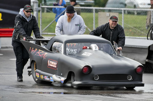 Wes Goddard of Guelph Ont qualified 9th with his very popular 58 Nash.