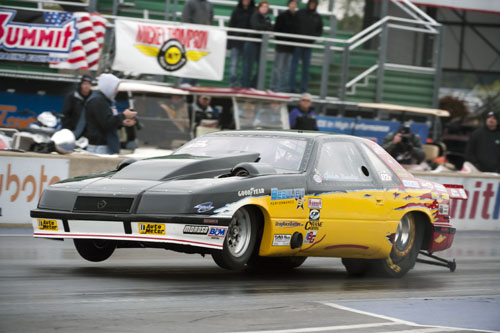 Cedric Beaulieu from Lac Etchemin Que  qualifies with a 4.469 @ 167.99 in his twin turbo Lebaron
