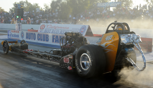 Tony Bartone completed a perfect 5 for 5 season to win the Nostalgia Top Fuel Championship title