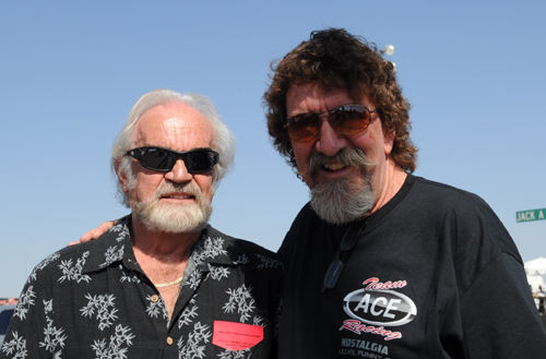 Western Canadian drag racing icons Terry Capp and  Harold Parfett enjoyed all the action at Bakersfield.