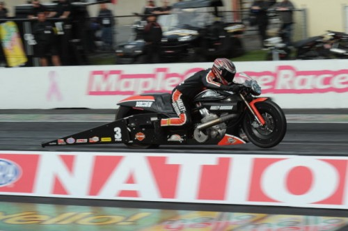 Eddie Krawiec sped to victory in Pro Stock Motorcyle
