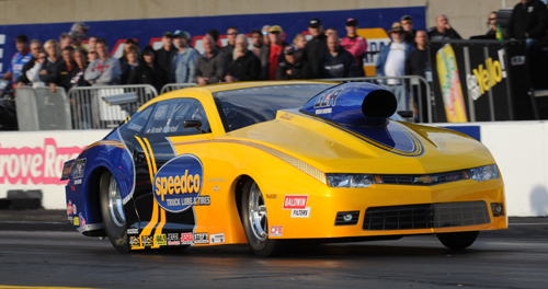 Arnie Martel drove his all new Chevy Camaro to a win in Competition eliminator