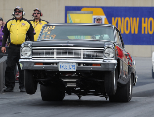 Sean Gaffney's ultra clean '66 Nova from the Ottawa area qualified a .929 under his class index in Super Stock