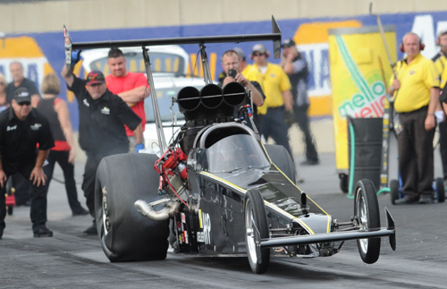 Quebec's Richard St. Pierre made his first ever NHRA national event start in TAD.  He qualified #14 at 5.478 secs before losing out in round #1
