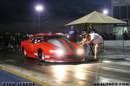Prior to his crash --Nick Agostino made his way to an amazing 4.05 at 201mph in the 1/8th mile.
