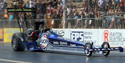 Phil Lamattina won Top Fuel at the Fuchs Spring Nationals in South Australia