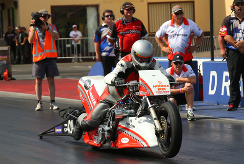 Gavin Spann emerged as an unexpected winner in Top Fuel Motorcycle