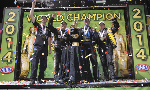 NHRA's World Champs have been crowned - following a truly exciting finale at Pomona