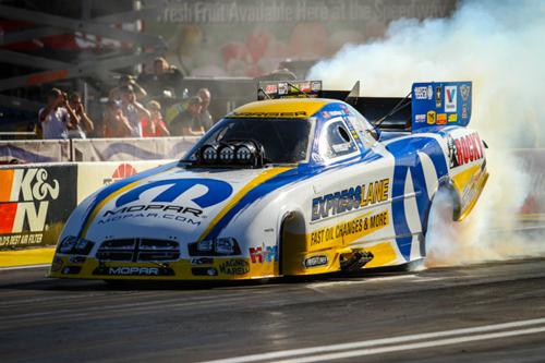 Matt Hagan set both Low ET and Top Speed in fuel FC