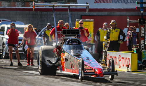Las Vegas: Greg Sereda (Spruce Grove AB) made a rare but welcomed NHRA national event appearance - but failed to qualify in TAD