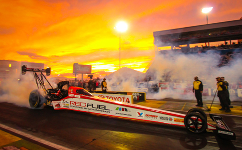 Spencer Massey won his 3rd race of the season in Top Fuel