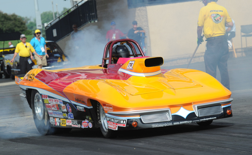 Driving this Corvette, Alberta's Eddy Plaizier is the 2014 Lucas Oil Super Gas Champion for NHRA Division Six