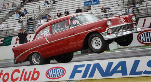 Rick Pike (Langley BC) entered his classic SS/FM '56 Chevy in Super Stock