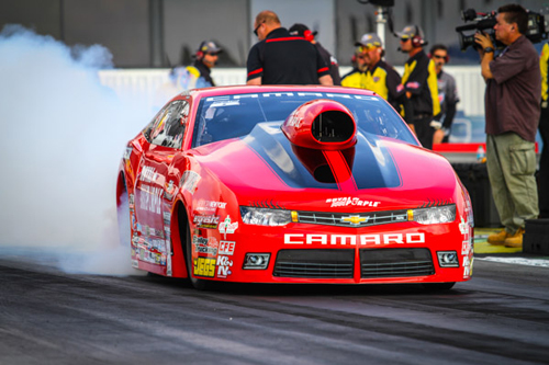 Racing the Elite Motorsports Chevy Camaro - Erica Enders-Stevens became drag racing first Pro Stock World Champion