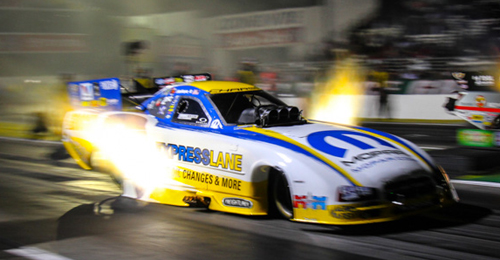 Matt Hagan powered the Mopar Express Lube Dodge Charger to both the event and World title