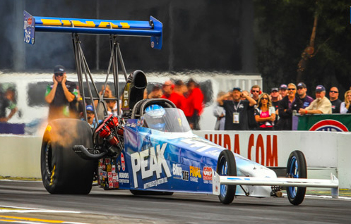 Former NHRA World Champion Duane Shield drove his injected nitro car to the TAD event title