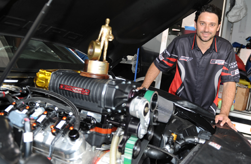 While J.C. Beattie rarely flaunts it - he is also a very accomplished drag racer himself - including a huge class win at NHRA Indy last summer.