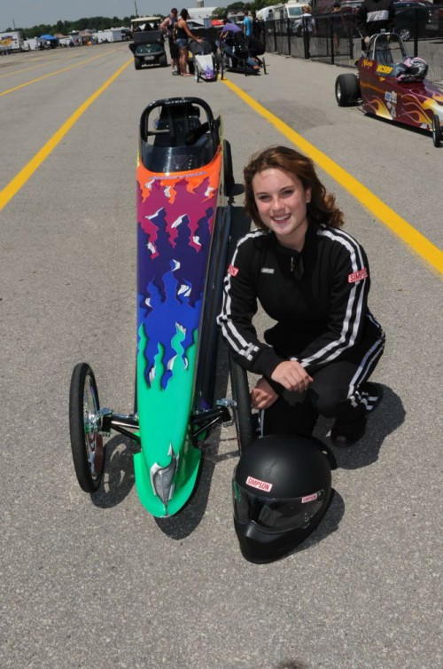 14-year old Christina is already a well accomplished Junior Dragster driver