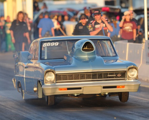 Prior to his Camaro - Weslosky ran this very cool '66 Chevy II Top Sportsman car primarily at Castrol Raceway.