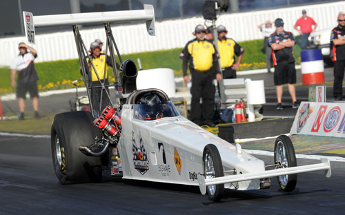 Don St. Arnaud became a NHRA national speed record holder during the NHRA Winternationals