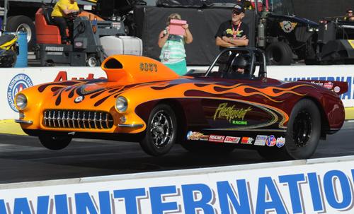 Victoria BC's Ed Hutchison ran his award winning '57 Corvette in Super Gas