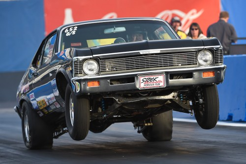 Alberta's Bob Gullett wheeled his G/S Chevy Nova to a strong 4th round placing in Stock eliminator.