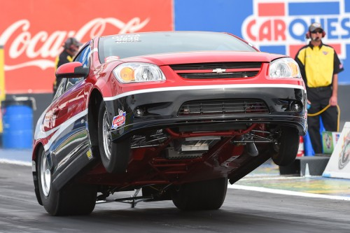 Red Deer's Byron Setters vaults from the gate with his Super Stock Chevrolet