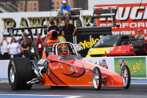 Keri Ebertz (from Edmonton) tried her hand in NHRA National event competition for the first time - but missed the TD cut.