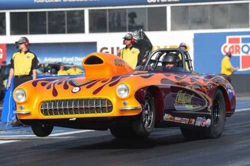 Ed Hutchinson entered his spectacular '57 Corvette from Vancouver Island in Super Gas