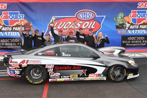 Edmonton car owner Ken Reich celebrated his Comp win with his team and driver Justin Lamb for the 2nd time!